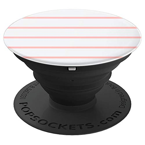 OFF WHITE PEACH COLOR STRIPE DESIGN - PopSockets Grip and Stand for Phones and Tablets