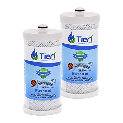 Tier1 Replacement for Frigidaire WF1CB PureSource, WFCB, RG100, WF284, NGR2000, Kenmore 469906, 469910 Refrigerator Water Filter 2 Pack (Water Source Wfcb Filter Pure)