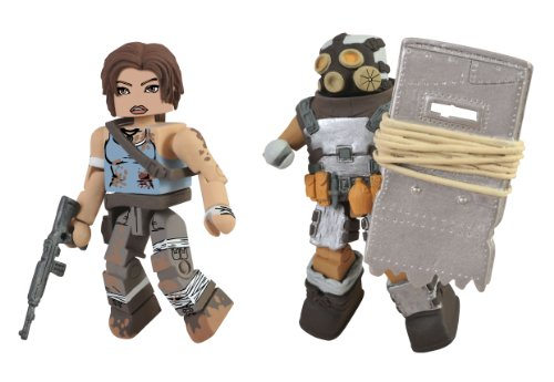 Lara Croft Tomb Raider Game Costume (Diamond Select Toys Tomb Raider Battle Damaged Lara Croft and Armoured Scavenger Action Figure, 2-Pack)
