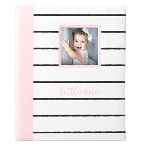 - Kate & Milo Modern Stripe Baby Book, Capture and Cherish Every Precious Moment Of Your Babys First Years, A Great Baby Registry Addition For Your New Baby, Pink