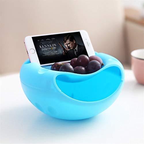 - YYi-kuG Multifunctional Basket Snacks Nut Melon Seeds Bowl Plastic Fruit Dish Double Layer Candy Plate Peels Shells Fruit Skin Box (Color : Blue)