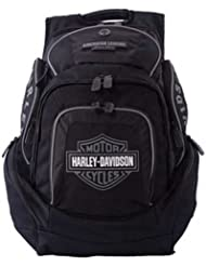 Harley-Davidson Mens Deluxe Backpack BP1900S-GRYBLK