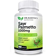Super Strength Saw Palmetto, 180 Capsules Prostate Health Supplement,Extract & Berry Powder Complex,Support to Help Maintain Normal Urination Frequency & Natural DHT Blocker to Help Prevent Hair Loss