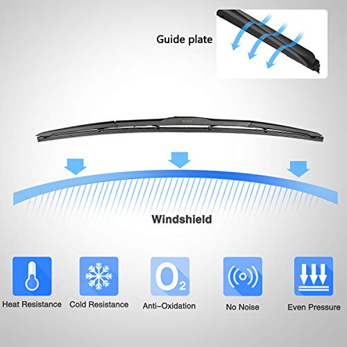 BUYLONG Hybrid Wiper Blades Universal Windshield Applicable Rain Freezing Wiper