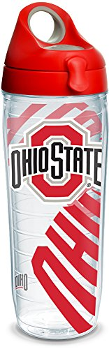 - Tervis 1289222 Ohio State Buckeyes Insulated Tumbler with Wrap and Lid, 24oz Water Bottle, Clear