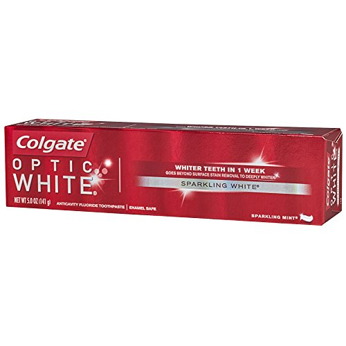 Colgate Optic White Whitening Toothpaste, Sparkling Mint - 5 ounce (6 Pack) by Colgate (Image #7)