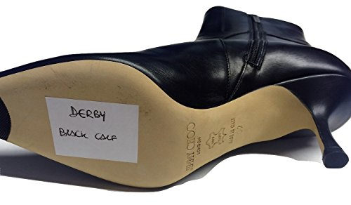 "Jimmy Choo ""Derby"" Jet Schwarz Alle Leder Boot"