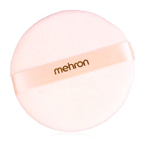 Mehron Makeup Round Professional Makeup Powder Puff, - Powder Puff Professional