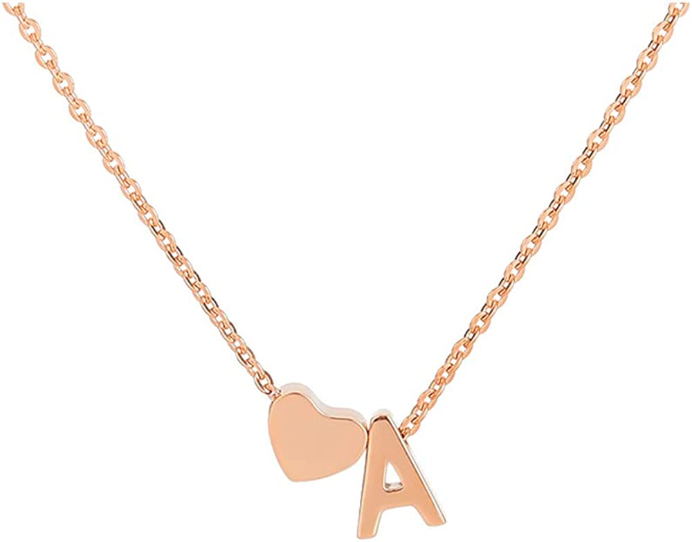 Gold or Silver Plated Tiny Initial N Necklace and Earring Set