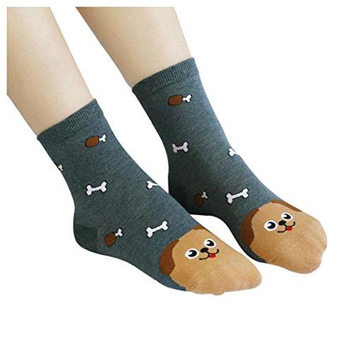 Inkach Adorable Girls Animals Cartoon Flexible Socks Women Cotton Socks E md1HBsMYD