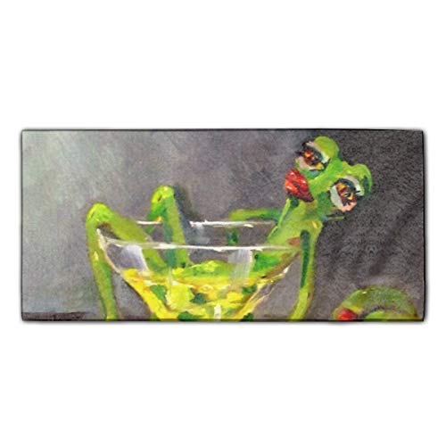 Drunk Frog Printed Kitchen Towel Extra Absorbent Personalized Gift- for Bathroom/Kitchen