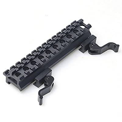 CVLIFE K05 Riser Mount Dual Rails Quick Release Adapter Double Slots 45 90 Degree Offset Extension Tactical Rifle Scope Sight High Profile See Through Base Converter for Red Dots Optics