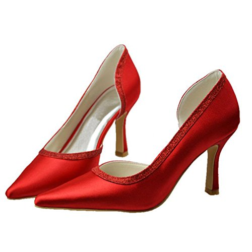 pour Minitoo Heel femme Minitoo rouge Escarpins 5cm Escarpins 9 Red PdxtzcqfIw