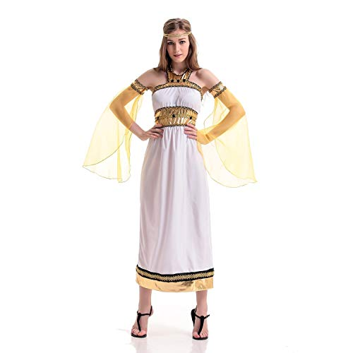 Halloween Costumes Greek Goddess Style for Women Dance Party Performance (Size : -
