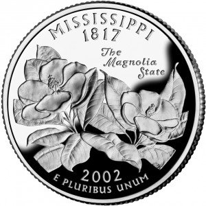 2002 S Mississippi State Proof Quarter PF1 US Mint
