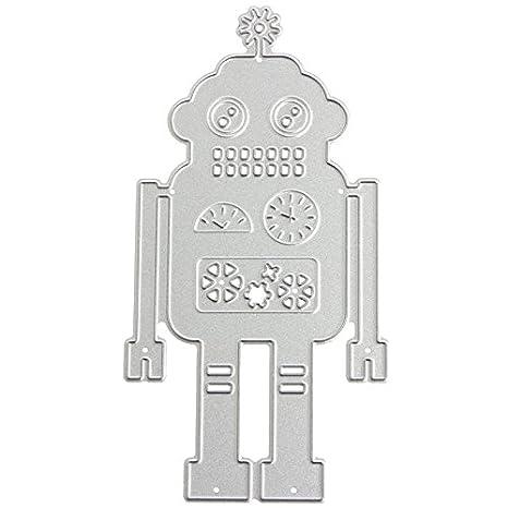 Mingo Robot plantillas de corte diseño de metal molde para DIY Scrapbooking álbum de repujado papel Tarjeta: Amazon.es: Juguetes y juegos