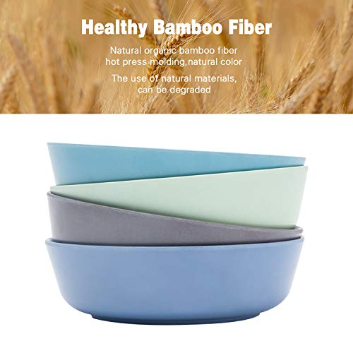 4pcs Bamboo Kids Bowls (20 fl oz) for Baby Feeding, Non Toxic & Safe Toddler Bowls, Eco-Friendly Tableware for Baby Toddler Kids Bamboo Toddler Dishes & Dinnerware Sets