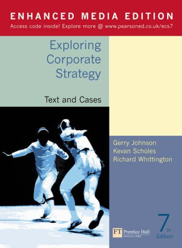 Download Exploring Corporate Strategy: Enhanced Media Edition, Text and Cases pdf