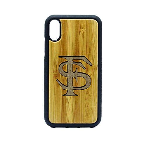 FSU Florida State University - iPhone XR CASE - Bamboo Premium Slim & Lightweight Traveler Wooden Protective Phone CASE - Unique, Stylish & ECO-Friendly - Designed for iPhone XR (Wood University State Florida)