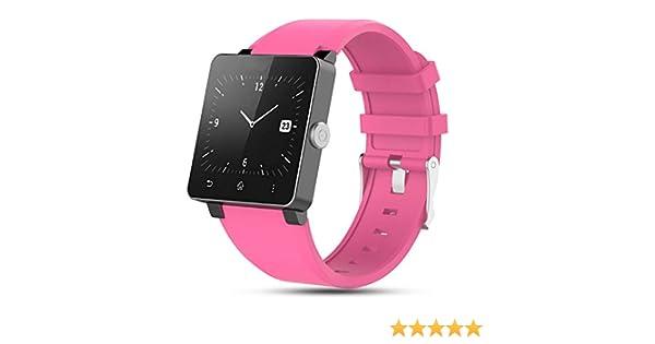 Zeehar - Correa de Silicona Suave de Repuesto para Reloj Inteligente Sony Smartwatch 2 SW2, Rosa, 5.5