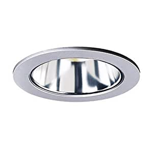Halo 999sl 4 inch clear reflector cone with silver trim for Number of recessed lights per room