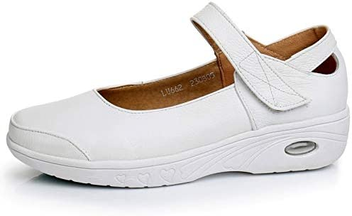 Lindarry Mary Jane White Loafers For