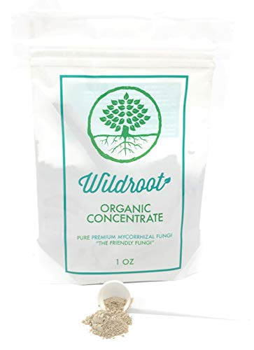 (Wildroot Organic Mycorrhizal Fungi (16 Species) Endo & Ecto Mycorrhizae Inoculant Powder Concentrate for Plants -1 Scoop Makes 1 Gal -100% Safe for Kids Pets (Powder, 1 oz))