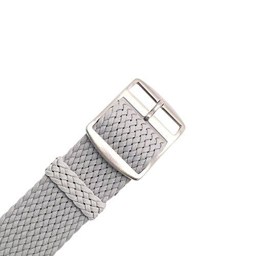 Wrist And Style Perlon Watch Strap - Light Grey | 20mm
