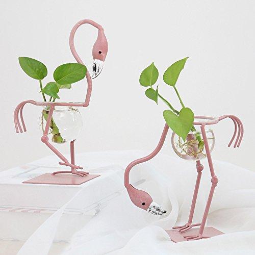 Plantas hidrop/ónicas A WDILO 1 Jarr/ón de Flamenco para Decoraci/ón de Habitaciones Muebles Decoraci/ón de Sala de Estar Jard/ín Oficina Verde