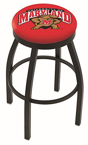 30″ L8B2B – Black Wrinkle Maryland Swivel Bar Stool with Accent Ring by Holland Bar Stool Company For Sale