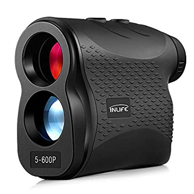 INLIFE Laser Rangefinder 656 Yard Distance Meter 6X Monocular Golf Range Finder with Slope, Flag-Lock, Height, Fog, Distance, Speed Measurement