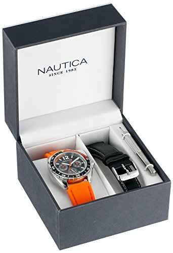 - Nautica Unisex N09908G Sport Ring Multifunction Stainless Steel Watch With Two Interchangable Bands
