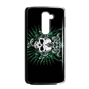 Happy Green Skull Custom Protective Hard Phone Cae For LG G2