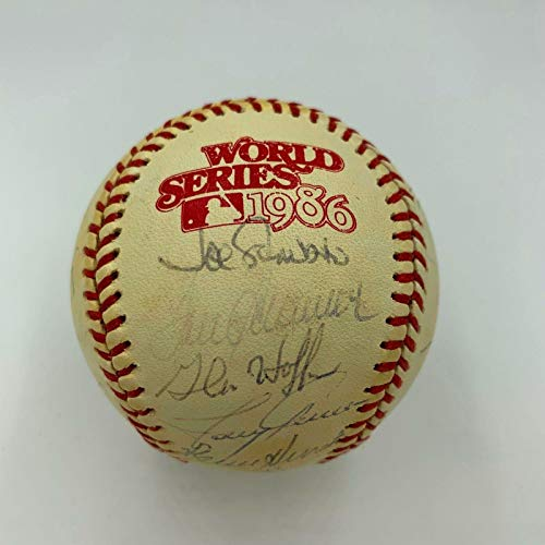 1986 Boston Red Sox Team Signed Official World Series Baseball COA - PSA/DNA Certified - Autographed Baseballs