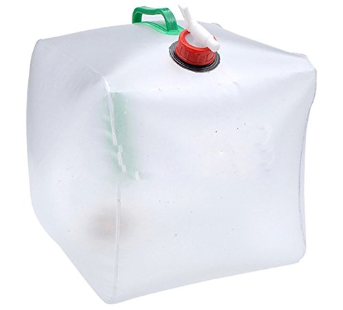 LZJZ Water Carrier 5 Gallon/20L Portable Water Dag, Collapsible Water Tank PVC Outdoor Water Camping Mountaineering (Jug Salt)