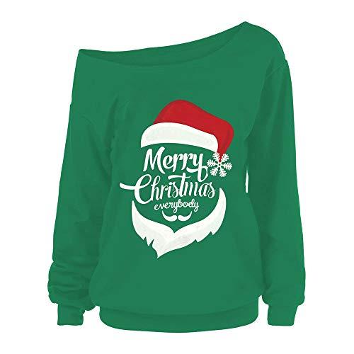 DEATU Sale Christmas Casual Shirt Women Merry Christmas