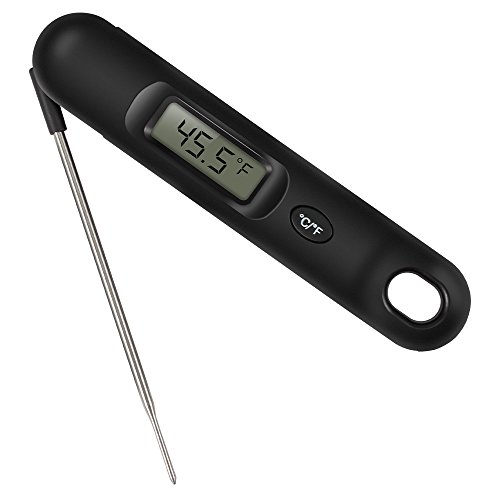 Instant Read Meat Thermometer, Prous FT02 Super Fast Accurate Cooking Food Thermometer Digital LCD with Foldable Probe Battery Included for BBQ, Grill, Smoker, Milk and Candy by Prous