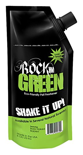 Rockin' Green Shake it Up Pail Freshener - Motley Clean - Natural Diaper Pail Freshener, Diaper Pail Deodorizer, Gym Bag, Shoe or Garbage Disposal Freshener - With Essential Oils (8 (Clean Air Odor Free Diaper)