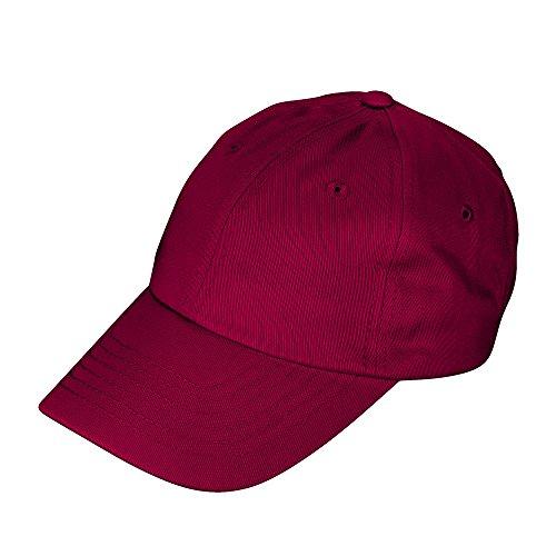 Maroon Kids Hat - DALIX Unisex Youth Childrens Cotton Cap Adjustable Plain Hat - Unstructured (Maroon)
