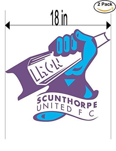 fan products of Scunthorpe United FC United Kingdom Soccer Football Club FC 2 Stickers Car Bumper Window Sticker Decal Huge 18 inches