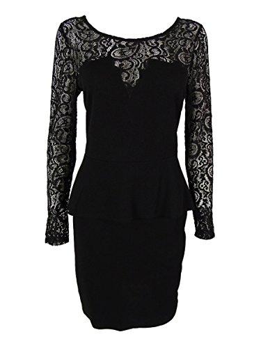 Thalia Sodi Women's Long Sleeve Dress (S, Deep Black) from Thalia Sodi