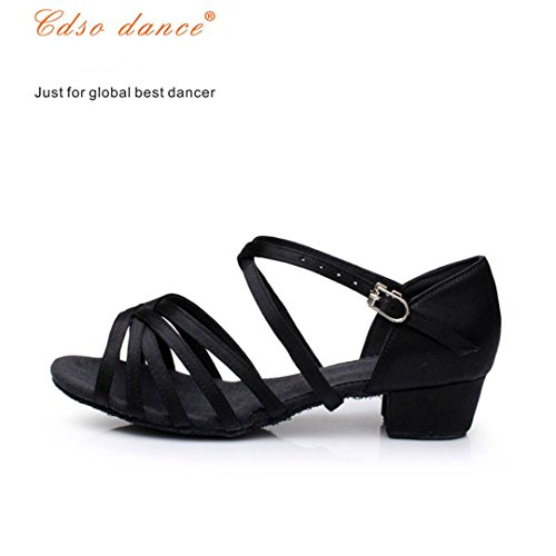 In Stock Fast Shipping Children Latin/Modern/Kids Sneakers Dance Shoes Girls Shoes Ballroom Salsa Shoes light tan 5.5 by Dance shoes (Image #3)