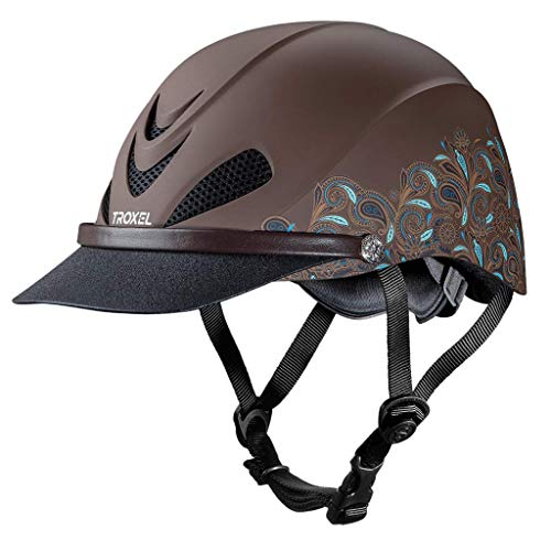 Troxel Dakota Turquoise Paisley ♦ Lightweight Trail Equestrian Helmet ♦ SEI/ASTM Certified (Medium)