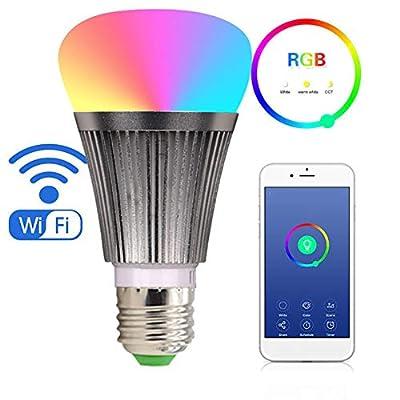 GYN-Dm LED Smart WiFi Bulb Light Alexa Voice Bulb Mobile APP Remote Control Variable Tone Light Bulb E277W Lamp Light