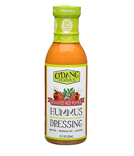 O'Dang Hummus Roasted Red Pepper Dressing 12 oz (Pack of 3)