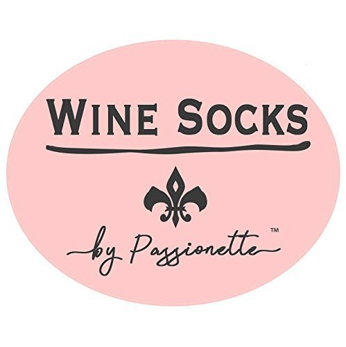 Passionette Fuzzy Wine Socks: If You Can Read This Bring Me Some Wine Novelty Socks Idea for Her - Anniversary, 21st Birthday, Christmas with Cupcake Gift Packaging (Baby Blush)