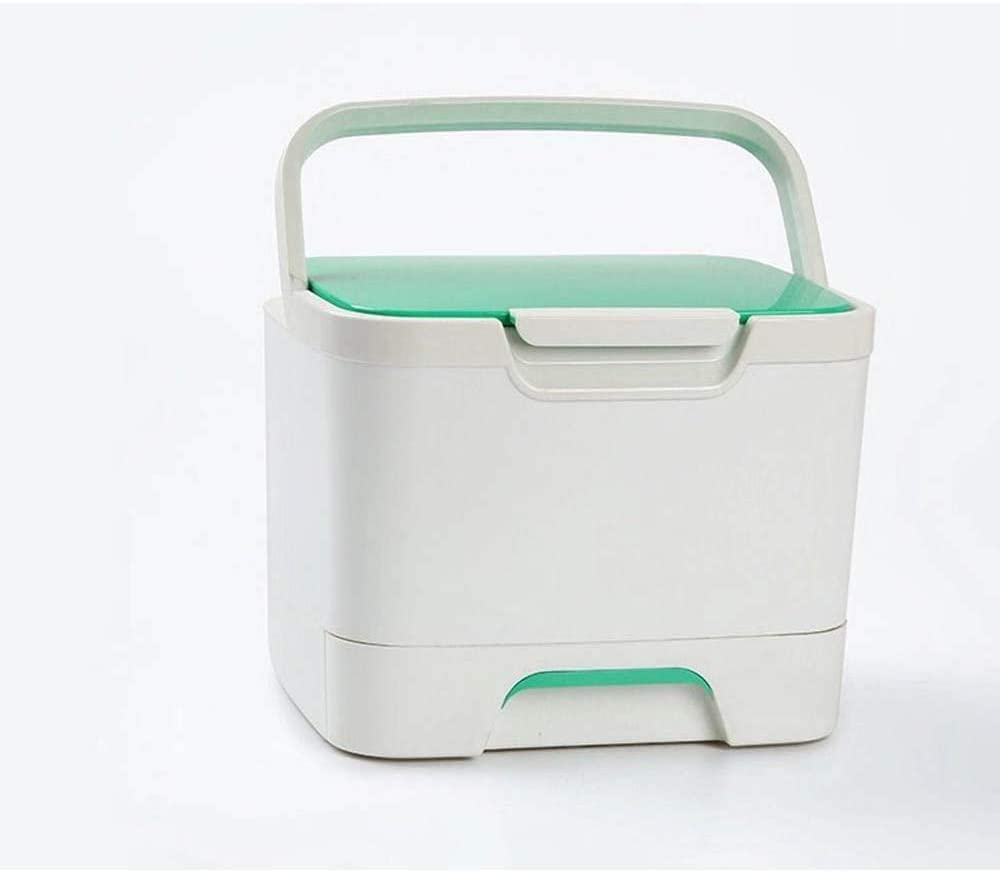 Plástico Estrella de Almacenamiento de Medicina Caja de Caja de la Medicina del hogar clúster, de múltiples Capas Kit de Primeros Auxilios, Productos para el hogar de Gran Capacidad Verde Blanco