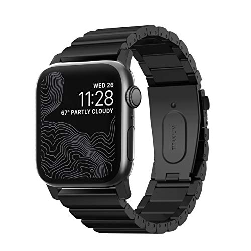 Nomad Titanium Band for Apple Watch 44mm/42mm | Black Hardware
