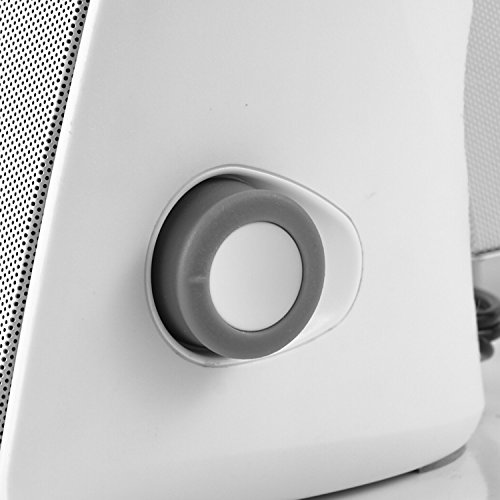 Besteye BE-829 USB Speakers for Computer Laptop Notebook Plug and Play with Enhanced Bass Resonator Stereo Sound PC Computer Speaker White by Besteye (Image #4)