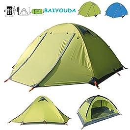 BaiYouDa Backpacking Tent,4 Season Waterproof Tent,2 Person Ultralight Tent Aluminum Rod Windproof Waterproof for Camping Hiking Travel Climbing – Easy Set Up